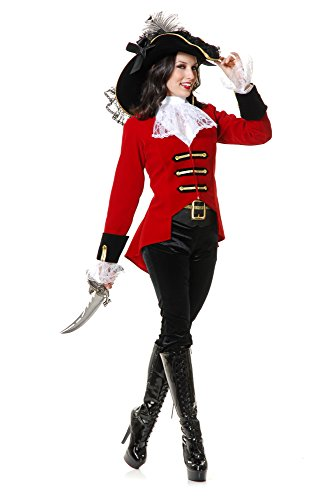 Lady Pirate Fancy Dress - Charades Womens Regal Pirate Lady Fancy