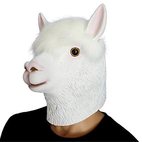 SQCOOL Tier Alpaka Maske Stirnband Halloween Make - up Tanz Show Lustige Spielzeug Hochwertige (Hund Kostüm Einhorn Diy)