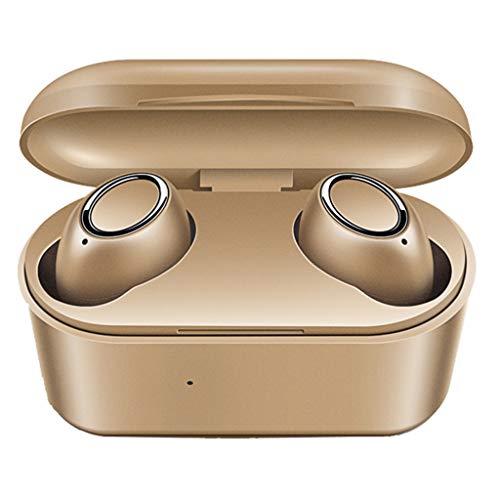 Bluetooth Kopfhörer Kabellos in Ear Ohrhörer Sport Headset Wireless Earbuds Touch-Control für iPhone Samsung(Gold)