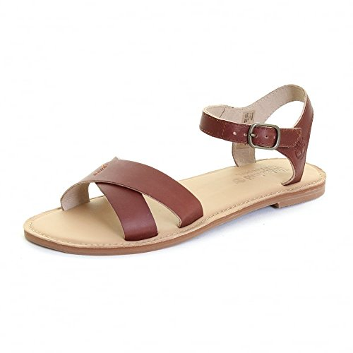 Timberland Earthkeepers Sheafe Ankle Strap Ladies Sandal Light Brown Tan