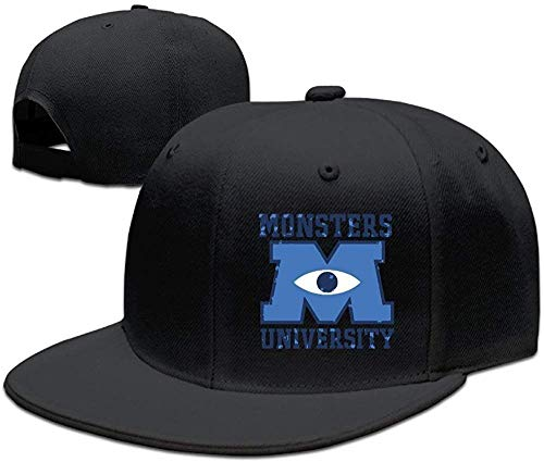 Yyangguang Facsea Runy Custom M U Monsters University Logo Adjustable Baseball Hat & Cap Black