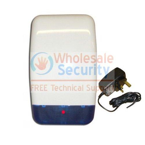 Decoy Dummy Intruder Burglar Alarm Bell Box with MAINS Flashing LED