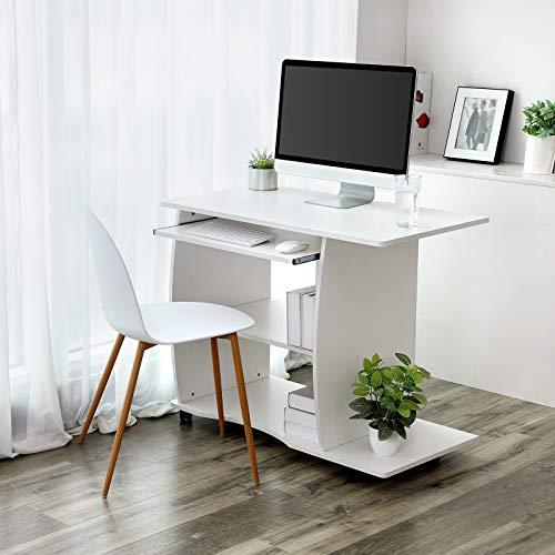 VASAGLE Scrivania per Computer, Tavolo Porta PC, Facile da Montare ...