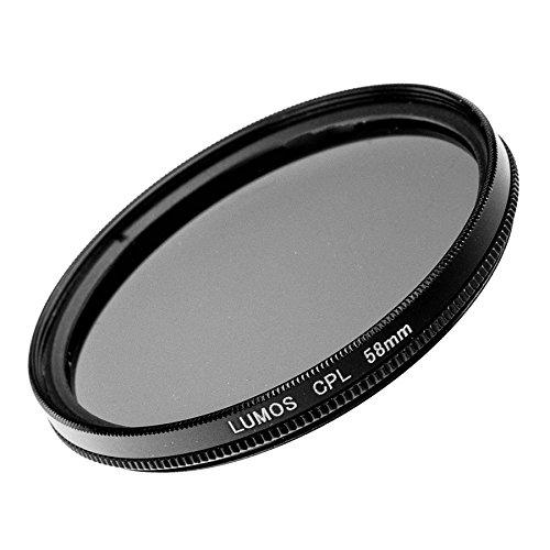 LUMOS Polfilter 58mm | zirkularer Polarisationsfilter Ø 58 mm | Pol-Filter zirkular optisches Glas Metallfassung