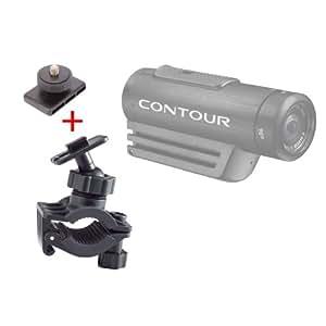 Fixation / support DURAGADGET de vélo et bicyclette pour Contour Roam 2, Roam et +2 caméscope Full HD caméra embarquée/caméscope