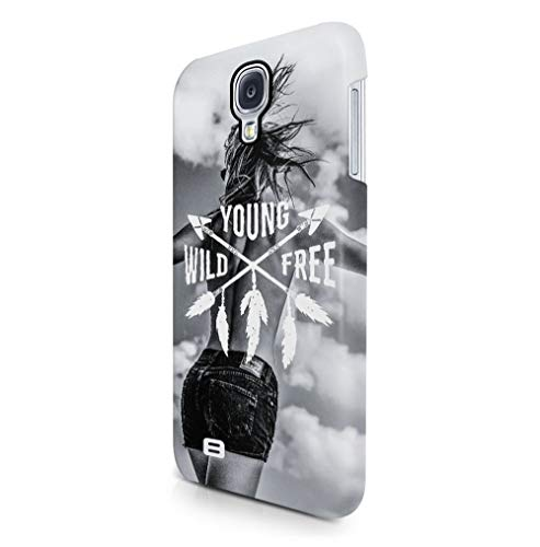 Maceste Young Wild and Free Sexy Blonde Girl Indie Free Spirit Wasted Youth Kompatibel mit Samsung Galaxy S4 SnapOn Hard Plastic Phone Protective Fall Handyhülle Case Cover