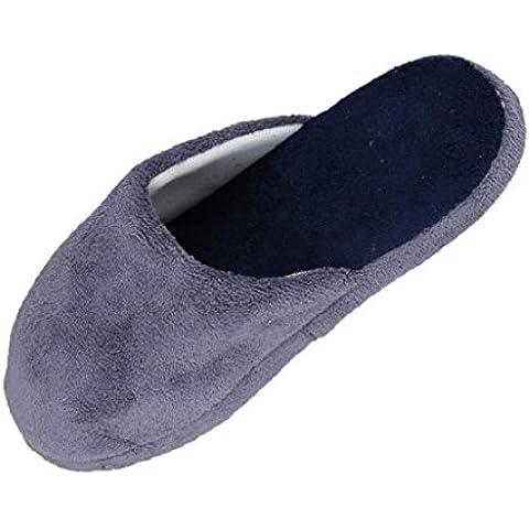 zapatillas de invierno hombres Sannysis Zapatillas diseño de antideslizante (EU 44, Gris)