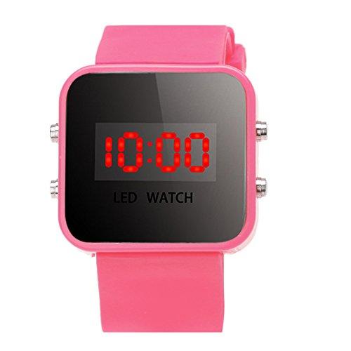 YouN Junge Mädchen Uhren Mode Luxus Silikon LED Digital Sport Uhr Armbanduhr, rose, 280.00*60.00*15.00mm - Invicta Silikon Bands Watch