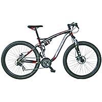 girardengo vélo Full acier MTB Full Suspension Noir/gris