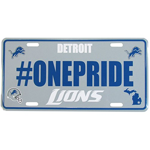 Siskiyou NFL Detroit Lions Hashtag License Plate - Gray Wall Plate