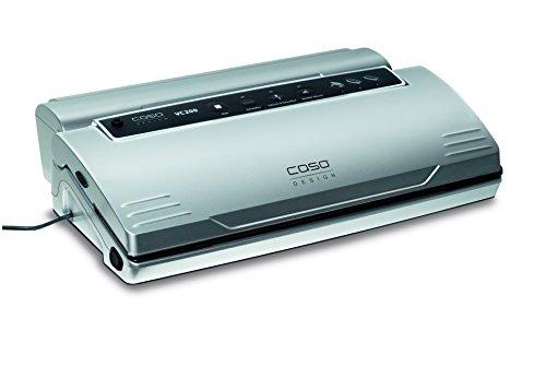 CASO VC200 Vakuumierer - Vakuumiergerät, Lebensmittel bleiben bis zu 8x länger frisch - natürliche Aufbewahrung ohne Konservierungsstoffe, doppelte 30cm lange Schweißnaht, inkl. Folienbox und Cutter, inkl. 2 Profi-Folienrollen & Schlauch für Vakuumbehälter