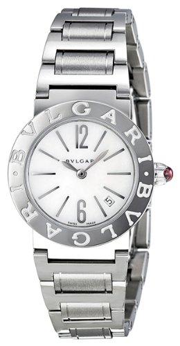 Bvlgari madre de perla acero inoxidable acero Damas Reloj bbl26wssd