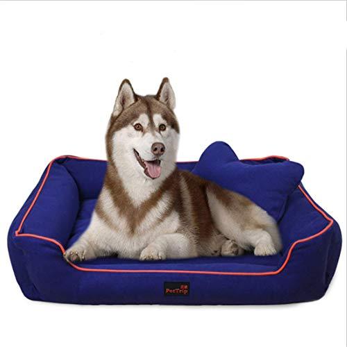 Rechteck-matte Stuhl (BABYS'q Rechteck Dog Sofa/Stuhl, verdicken Canvas Kennel mit Rutschfester Unterseite abnehmbare waschbare Matte, Hundebett / 4 Größen,M)