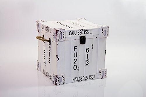B&P Italia S/2Juego de 2baúles Decorativos Cuadrados, revistero, MDF, Blanco, Talla única