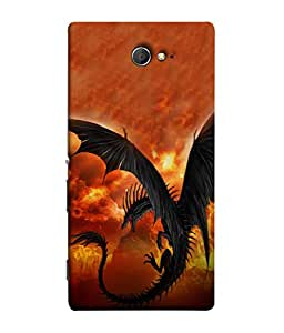 PrintVisa Flying Dianosour 3D Hard Polycarbonate Designer Back Case Cover for Sony Xperia M2 Dual :: Sony Xperia M2 Dual D2302