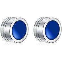 Japón-Corea negro titanio pendientes magnéticos/ clip del oído de los hombres/ pendientes no-perforados/damas/ pendientes de imán