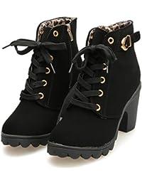 92836a55bf7 Amazon.fr   talon - Vert   Bottes et bottines   Chaussures femme ...