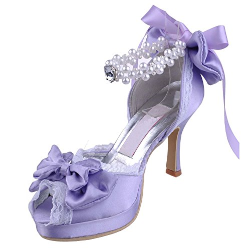 Kevin Fashion , Chaussures de mariage tendance femme Violet - violet
