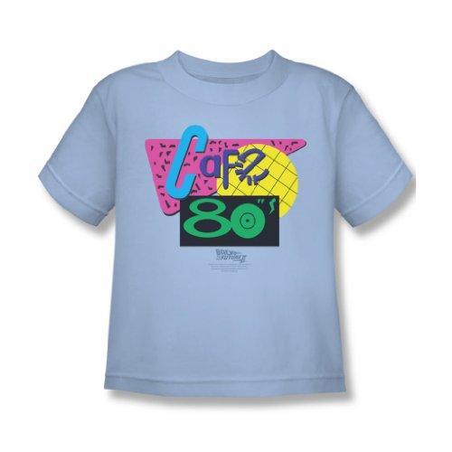 Back To The Future II - Zurück in die Zukunft II - Juvy Cafe 80\'S T-Shirt in hellblau, Medium (5/6), Light Blue