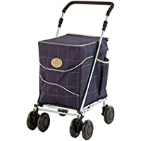 Sholley Complete, Shopping trolley, walker, rollator with Deluxe Blue Check