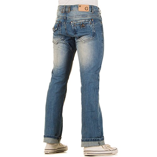 Herren Jeans, REGULAR FIT USED LOOK JEANS, KL-H-A160-1 Blau