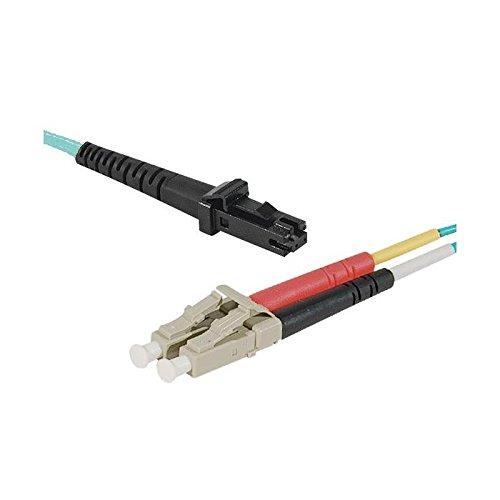 LWL Patchkabel, 50/ 125 µm, OM3-Faser, MTRJ Stecker/ LC Duplex Stecker, türkis, 2,0 m - Mtrj Duplex-faser-kabel