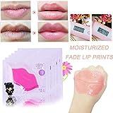 LCLrute Lippe Maske Collagen Lippe Gel Masken Lippenpflege Kollagen Feuchtigkeitsspendende Rosa (D)