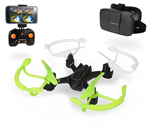 Dickie Toys 201119434 - RC DT FPV-VR Quadrocopter, funkferngesteuert mit Kamerafunktion und Virtual...