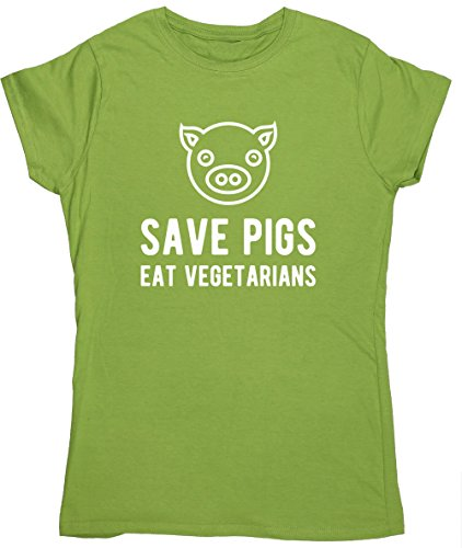hippowarehouse-save-pigs-eat-vegetarians-womens-fitted-short-sleeve-t-shirt