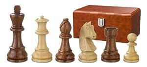 Philos 2188 Artus - Piezas de ajedrez (madera, altura del rey: 95 mm, doble peso, en caja, para 2 jugadores)