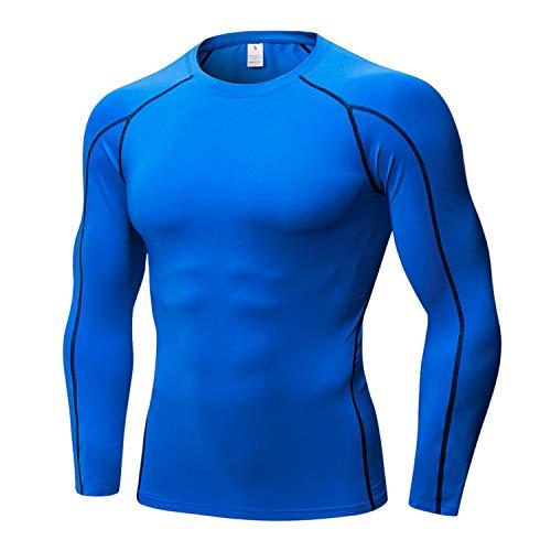 Minghe - Camiseta térmica - Hombre Azul Azul L