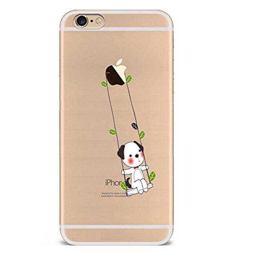 Iphone 6plus Hülle Giraffe Einhorn Elefanten Art Karikatur Silikon TPU Schutzhülle Ultradünnen Case Schutz Hülle für iPhone 6plus/6splus YM80