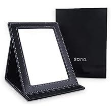 Eono Essentials Espejo de maquillaje plegable portátil con soporte para bolso, grande