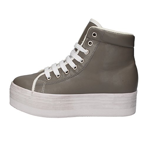 JC PLAY BY JEFFREY CAMPBELL Sneaker Donna Pelle Grigio 37 EU