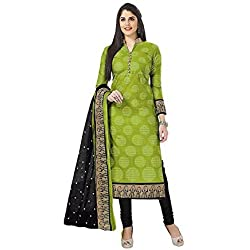 Vaamsi Women's Synthetic Dress Material (Deep1051B_Green_One Size)
