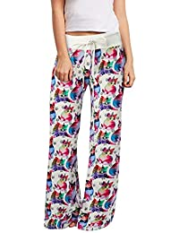 Loveternal Mujeres Harem Pantalones Impresión Boho Yoga Cintura de Cordón  Pantalón ... f7df5c739d6