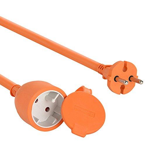 Electraline 101053 - Cable alargador eléctrico jardín