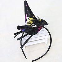 *Fantasyworld Navidad Bruja Cabeza del Cerrojo Props de Halloween Sombrero de la Bruja Colorido Venda de la Manera Vestido de Traje de los Accesorios para el Partido