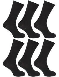 FLOSO - Chaussettes striées 100% coton (lot de 6 paires) - Homme
