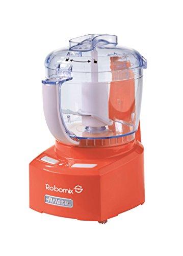 """Ariete 1767 Robomix Reverse Mini Robot da Cucina, Trita, Monta, Impasta grazie alla funzione""""Reverse"""", Lama Inox, Tazza 400 ml, Arancio"""