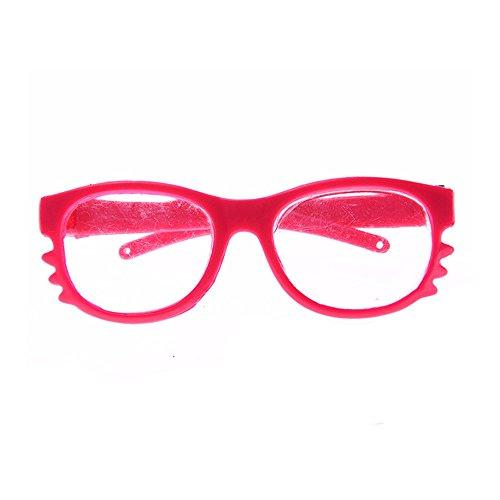 Puppenzubehör, YUYOUG Stilvolle Kunststoff Runde Rahmen Brille Sonnenbrillen für 18 Zoll Unsere Generation American Girl Puppe Zubehör Kinder Mädchen Spielzeug Weihnachten Geburtstagsgeschenk (A)