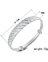 Ecloud Shop® Plata S925 regalo lluvias de meteoros de la joyería del brazalete de la Mujer