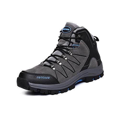 Ytt Scarpe Trekking, Antiscivolo Ultraleggero Traspirante Basso, Adatto per La Corsa Escursionismo Campeggio Sport Sfide Estreme,Gray,UK6/EU39
