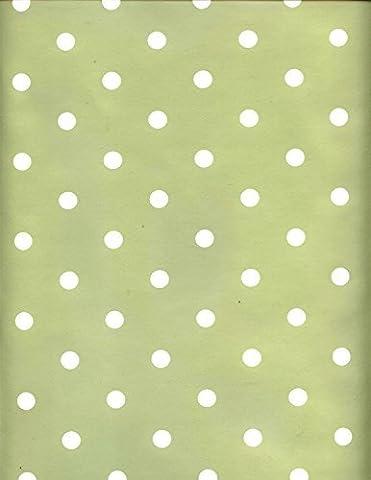 Sage Green Dotty PVC Wipe Clean Tablecloth 200cm x 137cm FREEP&P
