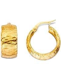 Miore 18 Karat (750) Gelbgold diamantiert facettiert Damen-Creolen MLP002E