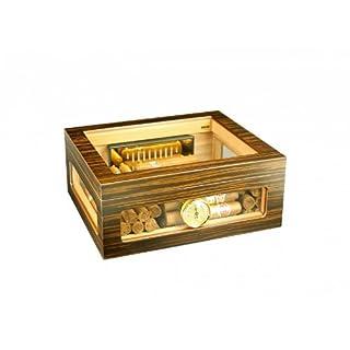 Adorini Humidor Treviso - Deluxe | hochwertige Zigarren-Aufbewahrung mit Glasdeckel