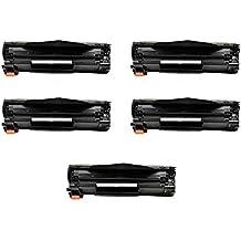 5ECS Cartucho de tóner negro Compatible reemplazar CE278A 78A CRG-728para impresoras HP LaserJet Pro Impresora M1536dnf P1566P1606dn P1601P1602P1603P1604P1605P1606N P1560P1600, Canon i-SENSYS MF-4570DN MF-4580DN MF-4450MF-4450D MF-4430MF-4410MF-4550D MF-4730MF-4750MF-4780W MF-4870DN MF-4890DW Fax L150L170L410