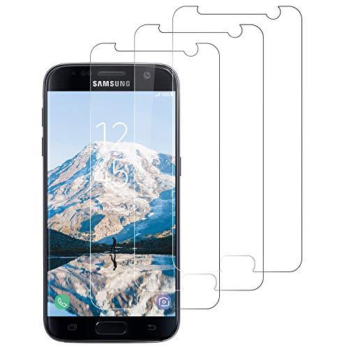 Snnisttek [Lot de 3 Protection écran Verre Trempé Samsung Galaxy S7, Dureté 9H, Protection Contre Les Rayures, l'huile, Les Bulles, Protection d'écran pour Samsung Galaxy S7
