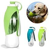 Botella de agua para perros para viajes a pie, hervidor de perro portátil, correr al aire libre para mascotas, alimentador de botellas de viaje, moda antibacteriano portátil durable y fácil de operar