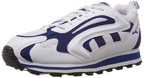 Lakhani Men's White, Cobalt and White Running Shoes - 8 UK (LKHI00T0810CM0008)